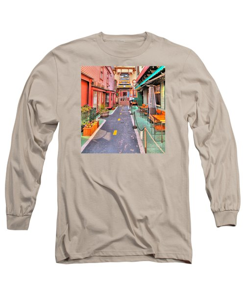 Long Sleeve T-Shirt featuring the photograph Dink's Taxi Bar Harbor by Debbie Stahre