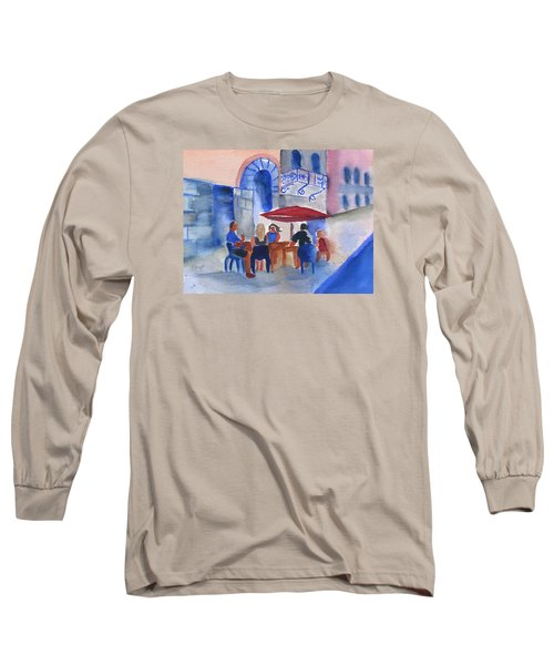 Dinner In Old San Juan Long Sleeve T-Shirt by Frank Bright
