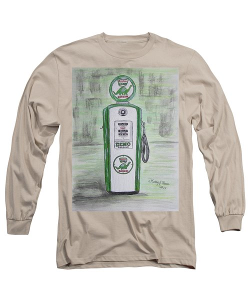 Dino Sinclair Gas Pump Long Sleeve T-Shirt