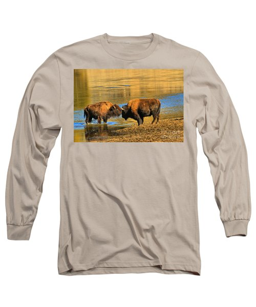 Long Sleeve T-Shirt featuring the photograph Discussing The Crossing by Adam Jewell