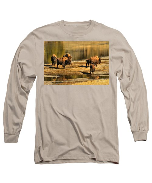 Long Sleeve T-Shirt featuring the photograph Discussing The River Crossing by Adam Jewell