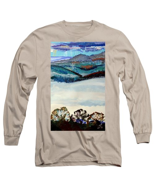 Distant Hills And Mist In The Lowlands Landscape Long Sleeve T-Shirt