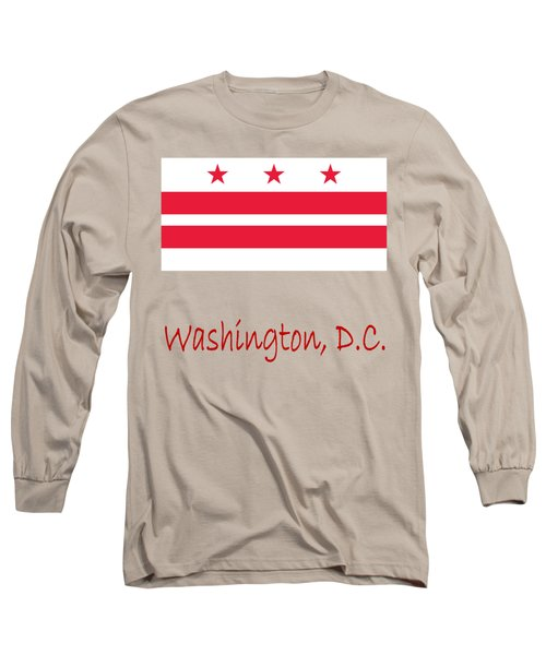 District Of Columbia Flag Long Sleeve T-Shirt by Frederick Holiday