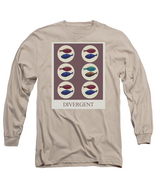 Long Sleeve T-Shirt featuring the digital art Divergent by Galen Valle