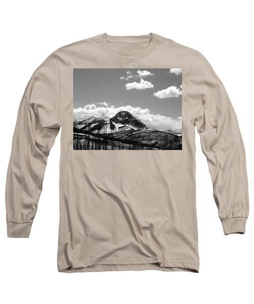 Divide In Blackand White Long Sleeve T-Shirt