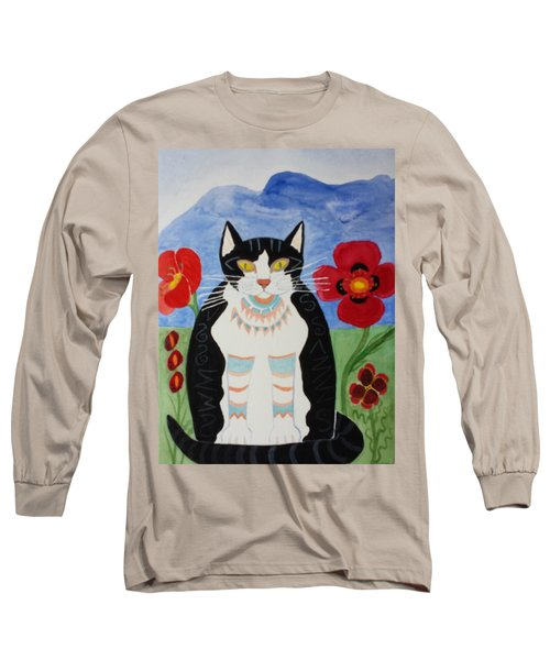 Diwali Tux Cat Long Sleeve T-Shirt