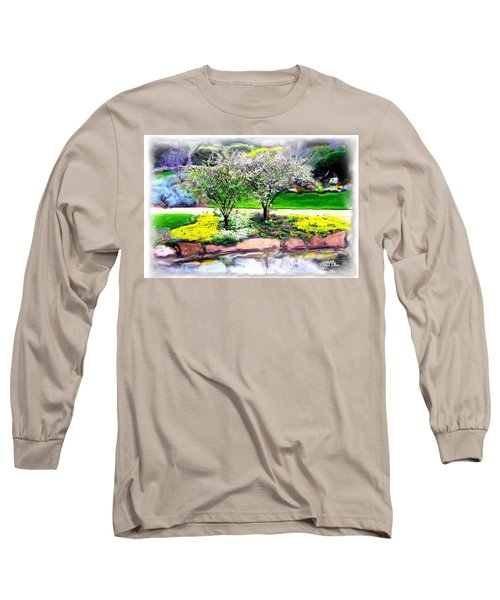 Long Sleeve T-Shirt featuring the photograph Do-00066 Lake Walk by Digital Oil