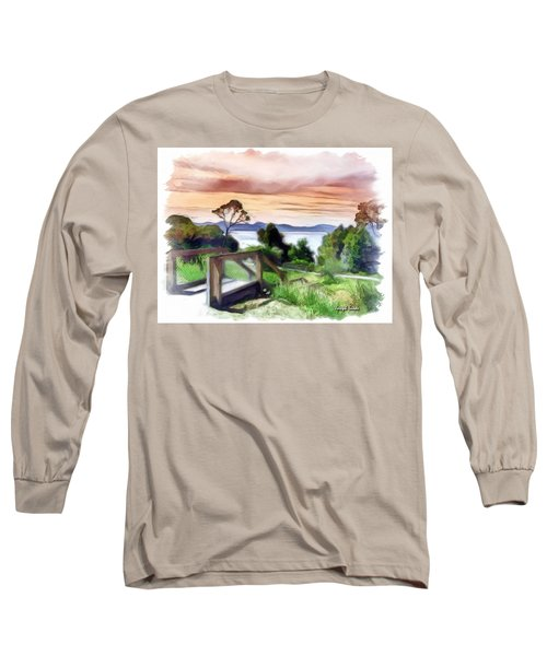 Do-00272 Look Out From Sarah Island Long Sleeve T-Shirt by Digital Oil