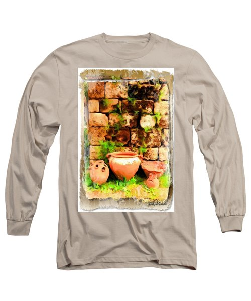 Long Sleeve T-Shirt featuring the photograph Do-00348 Jars In Byblos by Digital Oil
