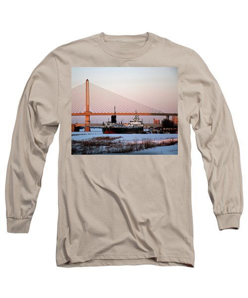Docked Under The Glass City Skyway  Long Sleeve T-Shirt