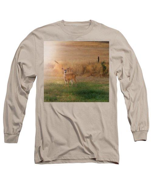 Doe At Sunset Long Sleeve T-Shirt