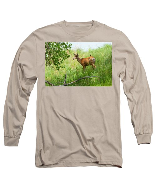 Doe Meets Bird 1 Long Sleeve T-Shirt