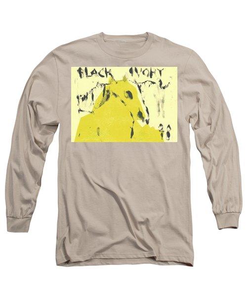 Dog At The Beach - Black Ivory 4 Long Sleeve T-Shirt
