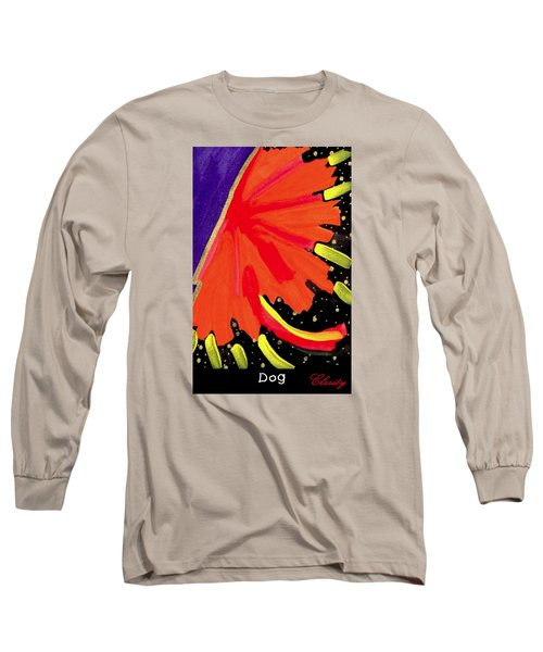 Long Sleeve T-Shirt featuring the painting Dog by Clarity Artists