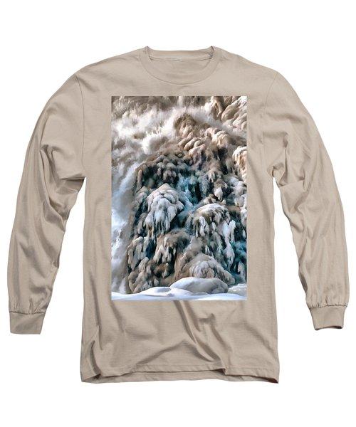 Dog Falls Long Sleeve T-Shirt by Jim Proctor