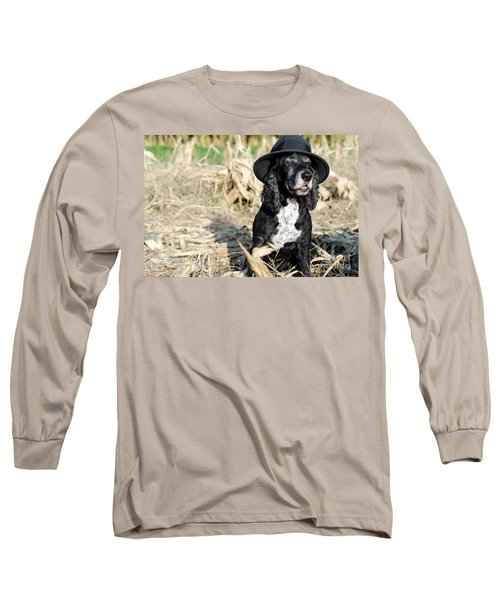 Dog With A Hat Long Sleeve T-Shirt