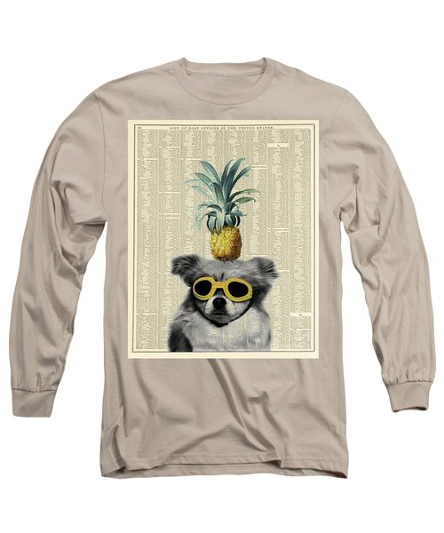 Dog With Goggles And Pineapple Long Sleeve T-Shirt