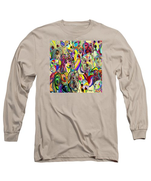 Dogs Dogs Dogs Long Sleeve T-Shirt by Eloise Schneider