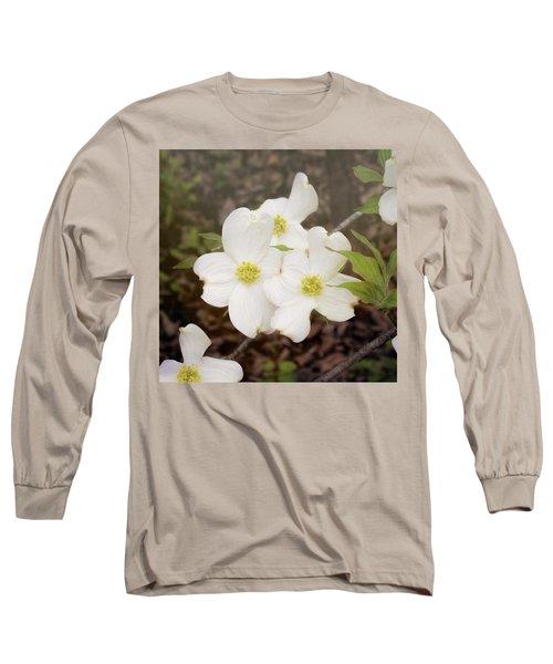 Dogwood Blossom Trio Long Sleeve T-Shirt