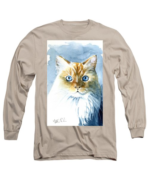 Doll Face Flame Point Himalayan Cat Painting Long Sleeve T-Shirt