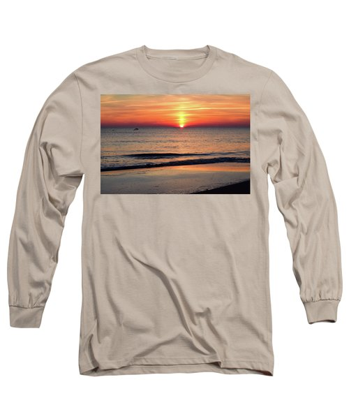 Dolphin Jumping In The Sunrise Long Sleeve T-Shirt