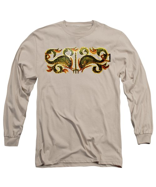 Long Sleeve T-Shirt featuring the digital art Dolphins Of Pompeii by Asok Mukhopadhyay