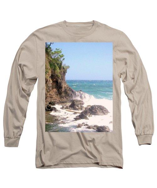 Long Sleeve T-Shirt featuring the photograph Dominica North Atlantic Coast by Ian  MacDonald