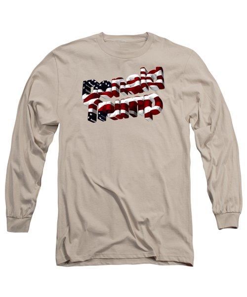 Donald Trump Long Sleeve T-Shirt by Ericamaxine Price