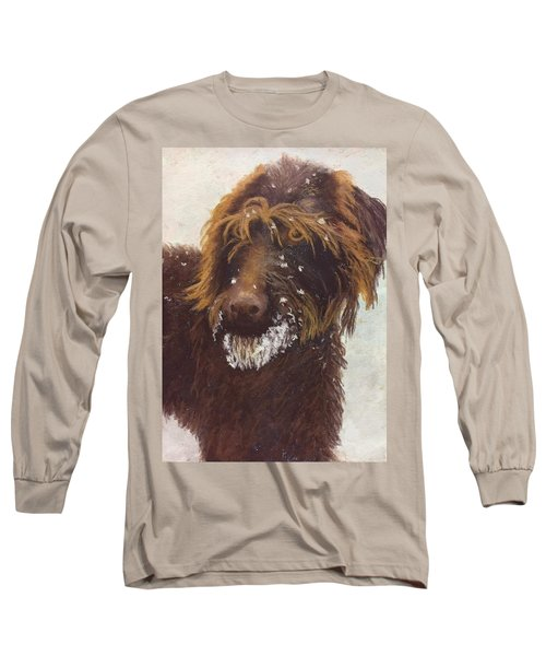 Don't Eat The Snow Long Sleeve T-Shirt by Nancy Jolley