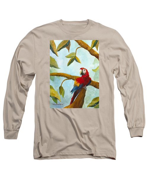 Dont Worry Be Happy Long Sleeve T-Shirt by Phyllis Howard