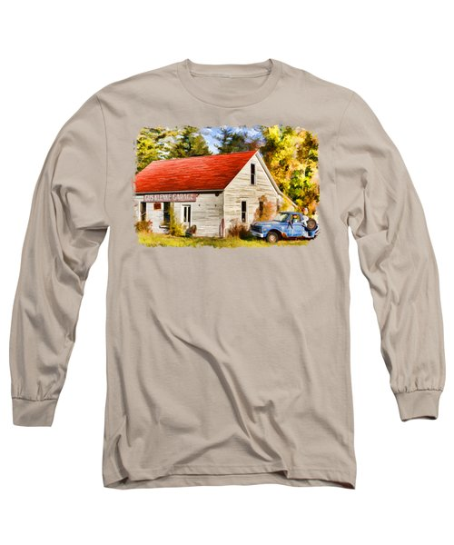 Long Sleeve T-Shirt featuring the painting Door County Gus Klenke Garage by Christopher Arndt