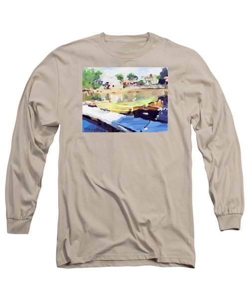 Dories At Beacon Marine Basin Long Sleeve T-Shirt