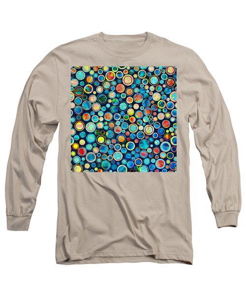 Dots On Painted Background Long Sleeve T-Shirt