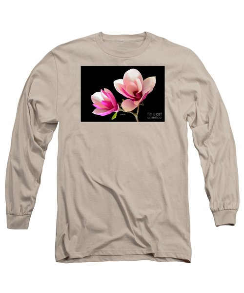 Double Magnolia Blooms Long Sleeve T-Shirt by Jeannie Rhode