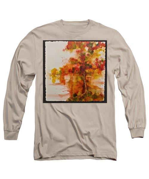 Long Sleeve T-Shirt featuring the painting Double Reflection by Carolyn Rosenberger