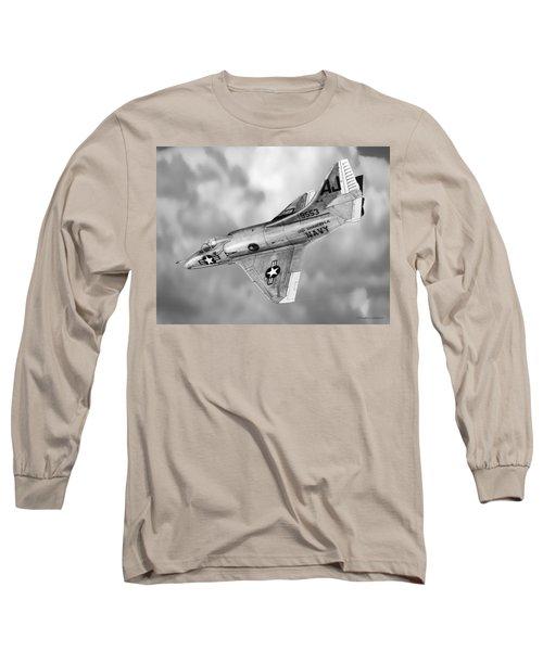 Douglas A-4c Skyhawk Long Sleeve T-Shirt by Douglas Castleman