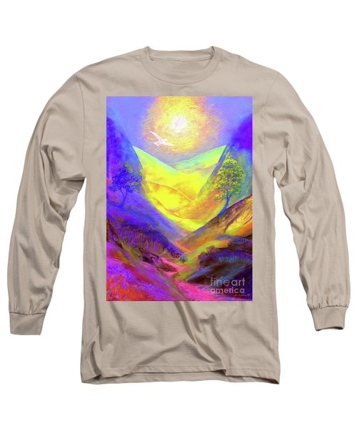 Long Sleeve T-Shirt featuring the painting Dove Valley by Jane Small
