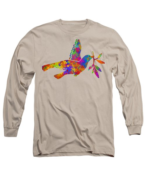 Dove With Olive Branch Long Sleeve T-Shirt