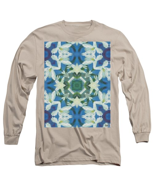Doves Of Peace Long Sleeve T-Shirt by Maria Watt
