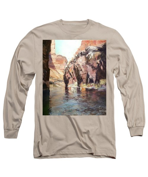 Down Stream On The Mighty Colorado River Long Sleeve T-Shirt