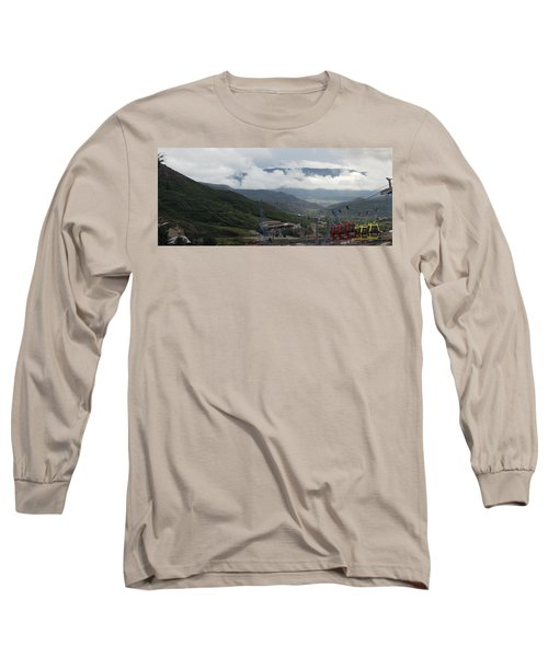 Down The Valley At Snowmass #3 Long Sleeve T-Shirt