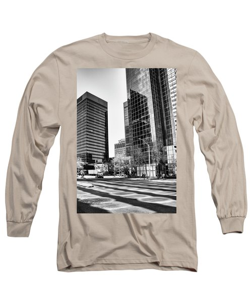 Long Sleeve T-Shirt featuring the photograph Downtown Bubble Reflections by Darcy Michaelchuk