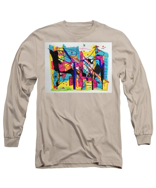 Downtown --where All The Lights Are Bright Long Sleeve T-Shirt