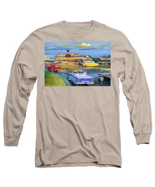 Dragging The Circle - Hub Diner Long Sleeve T-Shirt