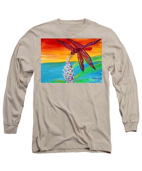 Dragonfly Ecstatic Long Sleeve T-Shirt