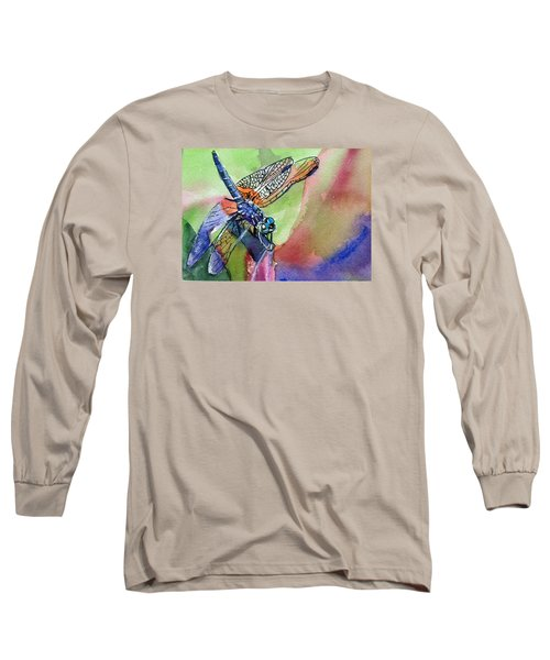 Dragonfly Of Many Colors Long Sleeve T-Shirt
