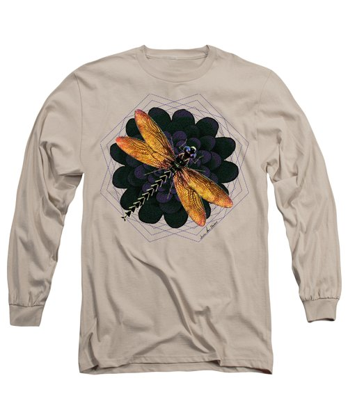 Dragonfly Snookum Long Sleeve T-Shirt by Iowan Stone-Flowers