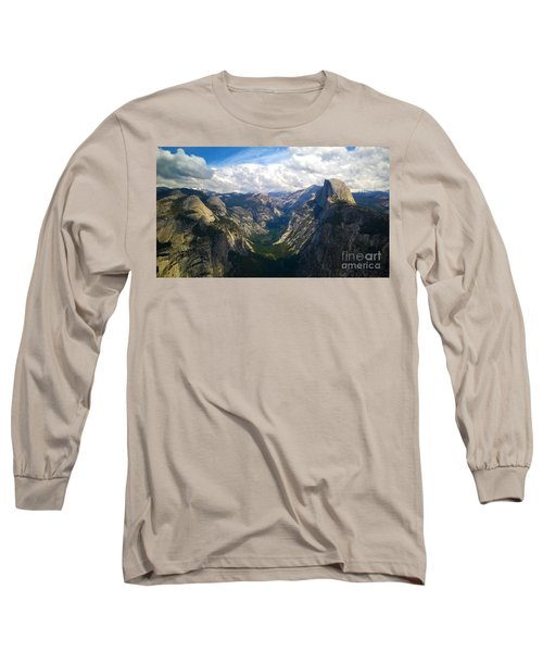 Long Sleeve T-Shirt featuring the photograph Dramatic Yosemite Half Dome by Debra Thompson