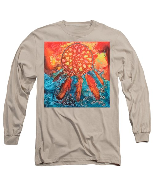 Long Sleeve T-Shirt featuring the painting Dream Catcher by Nancy Jolley