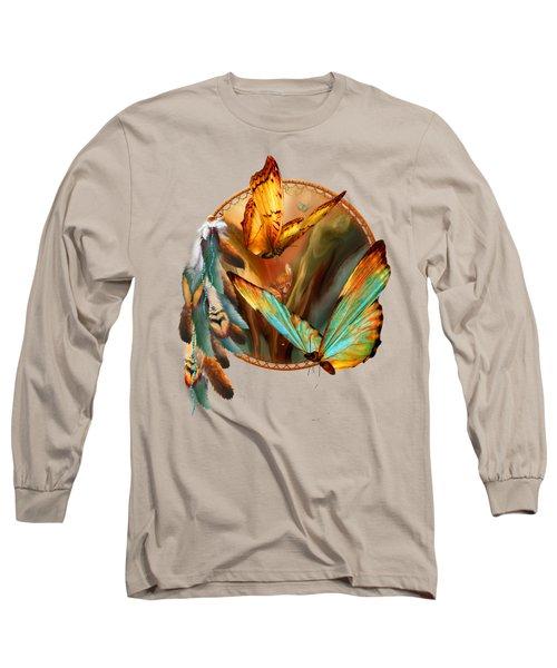 Dream Catcher - Spirit Of The Butterfly Long Sleeve T-Shirt
